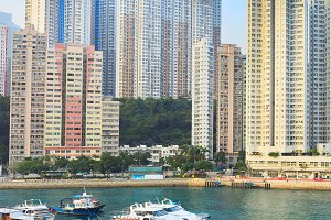 Architecture of Aberdeen Bay in HK
