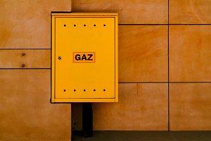 Abstract Yellow Gas Box Artwork
