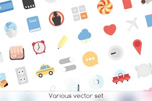 Various vector set