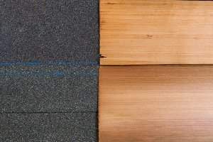 Composite vs Cedar Wood Shingles