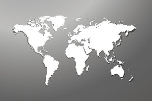 World map with white background illustrations creative market world map with gumiabroncs Gallery