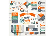 Infographics set with options.