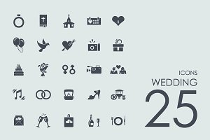 25 Wedding icons + BONUS