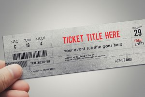 Stylish ticket template