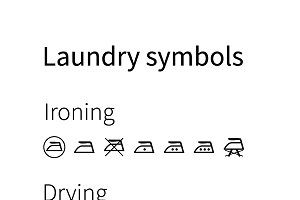 Laundry symbols Icons on white