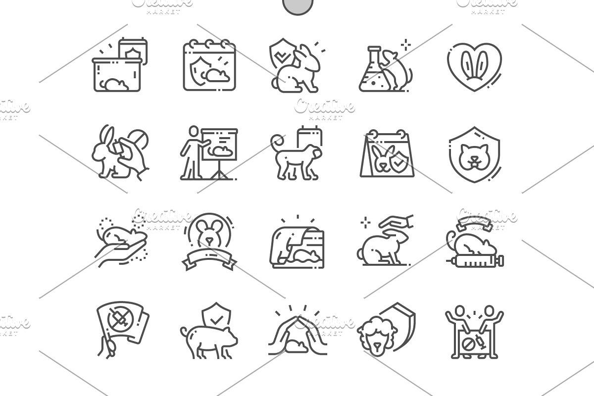 World Day Animals Line Icons