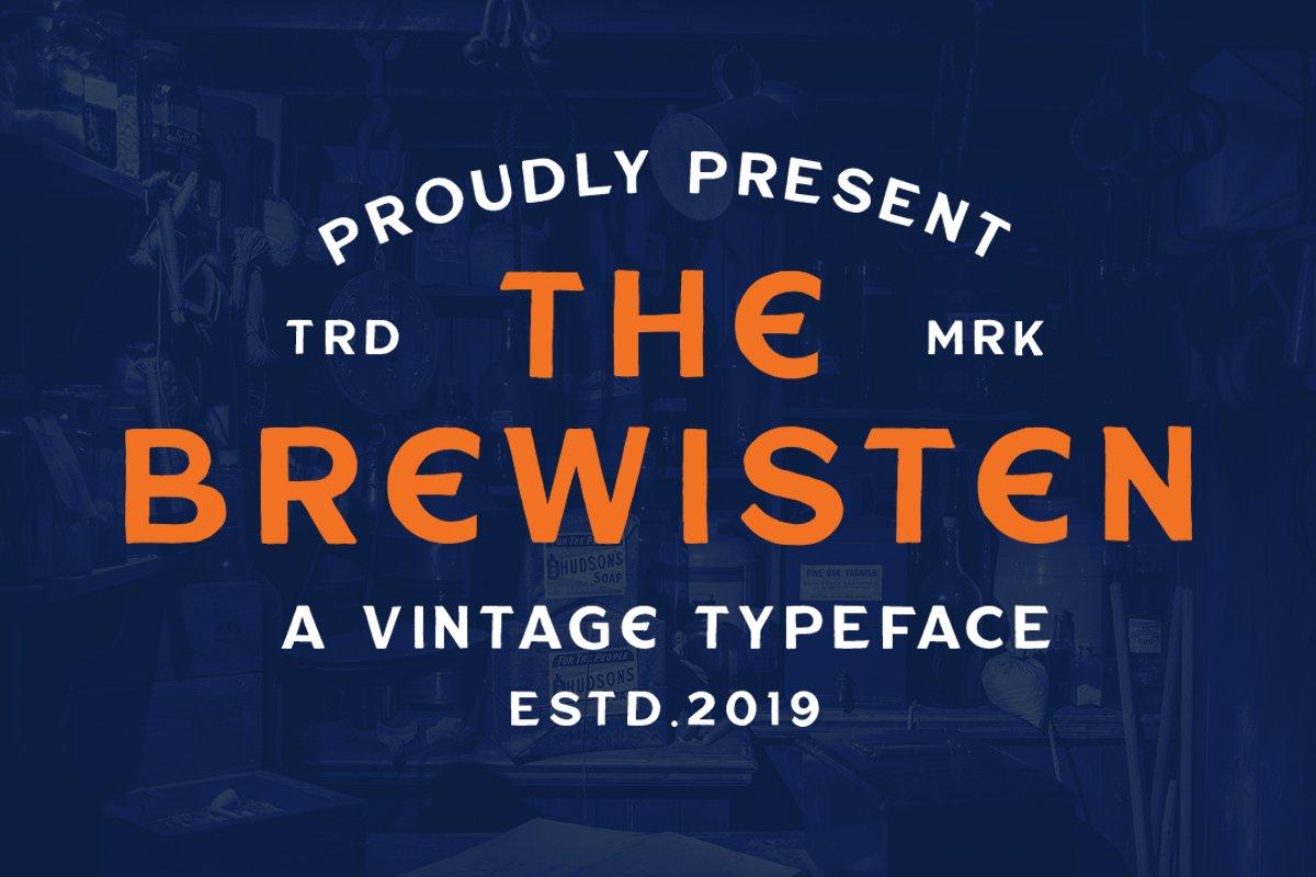Шрифт – Brewisten Vintage