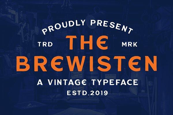 Brewisten Vintage Font + Extras