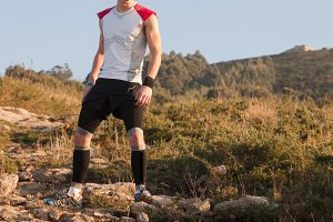 Ultra trail runner stand up