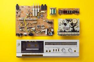 Vintage stereo cassette deck