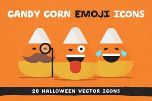 Candy Corn Halloween Emoji Icons