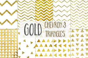 Gold Chevron and Triangles