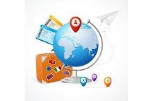 Travel Concept Globe. Vector