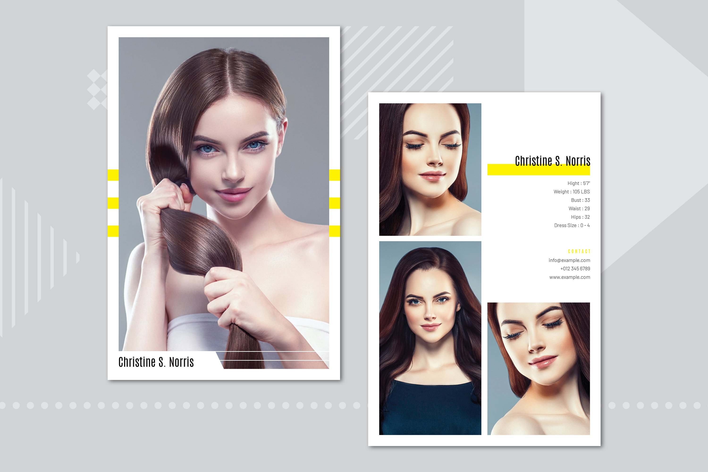 Modeling Comp Card Template  Creative Photoshop Templates Intended For Download Comp Card Template