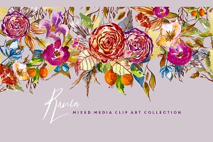 Flower Clip Art - Raven