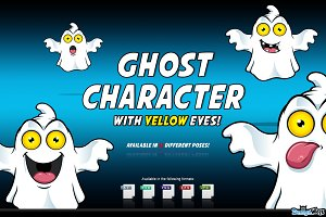 Ghost Character With Yellow Eyes