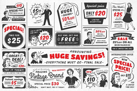 1950s Style Retro Ad Templates in Templates - product preview 1