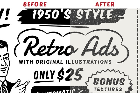 1950s Style Retro Ad Templates in Templates - product preview 4