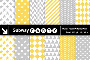 Gray & Yellow Geometric Papers