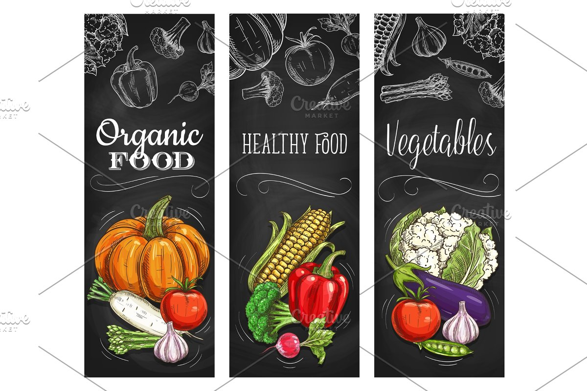 Natural vegetable banners