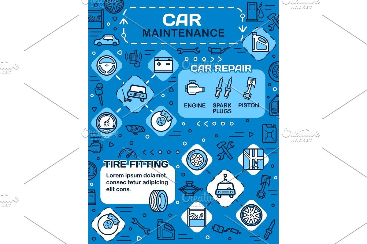 Car spare parts, vehicle maintenance