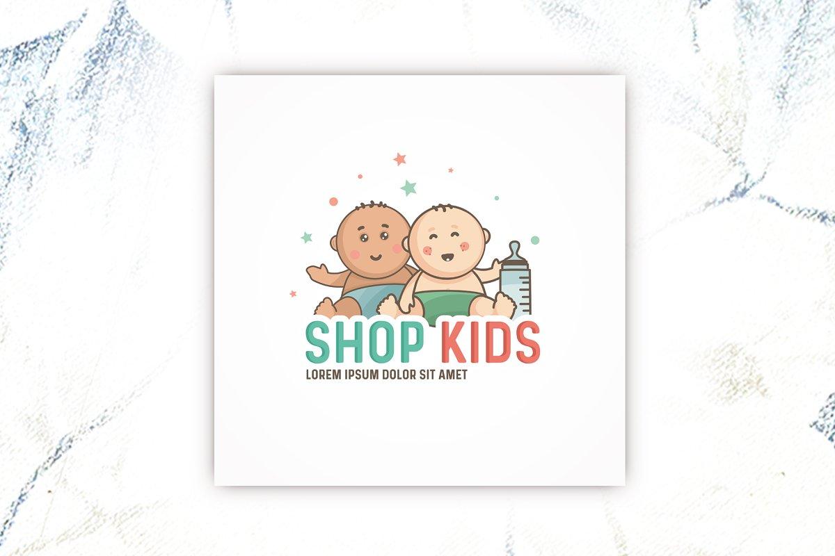kids logo design template