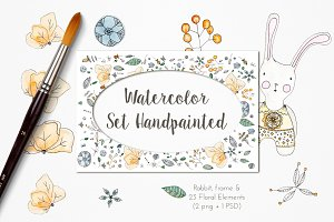 Watercolor Set Handpainted
