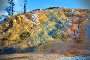 Colorful Rocks in Yellowstone