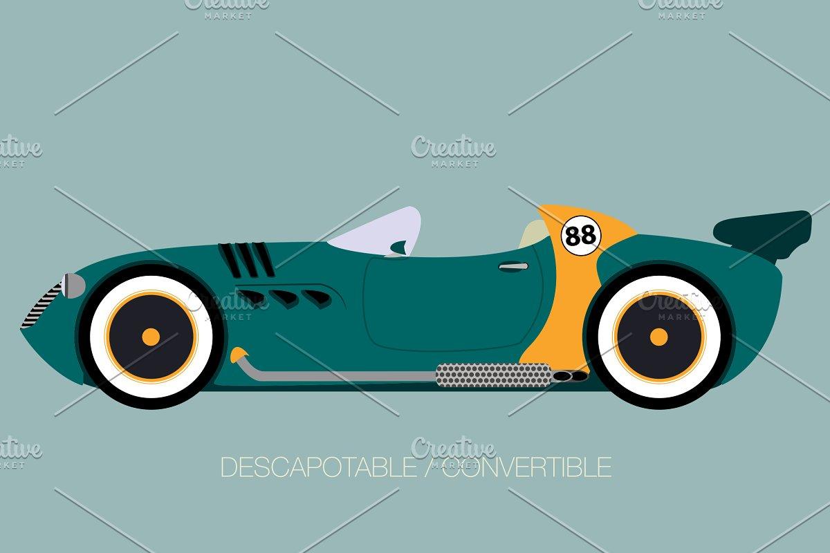retro style car