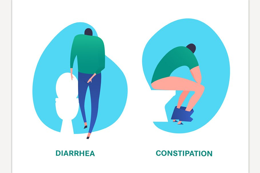 Diarrhea and constipation image