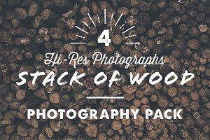 4 x Stack of Wood Photography Pack
