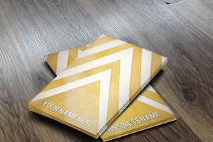 Gold Chevron Business Card