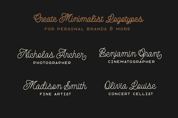 Best Avondale - Monoline Font DUO Vector