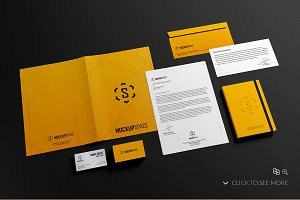 Elegant Stationery Brand Mock-Up