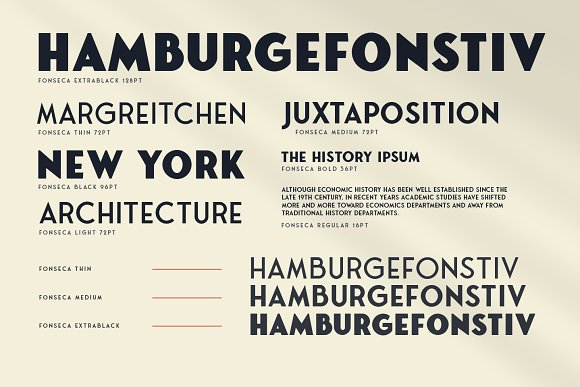 Fonseca - 16 Fonts in Sans-Serif Fonts - product preview 5