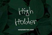 High Holder - Handwritten Font