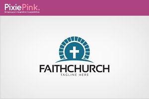 Faith Church Logo Template