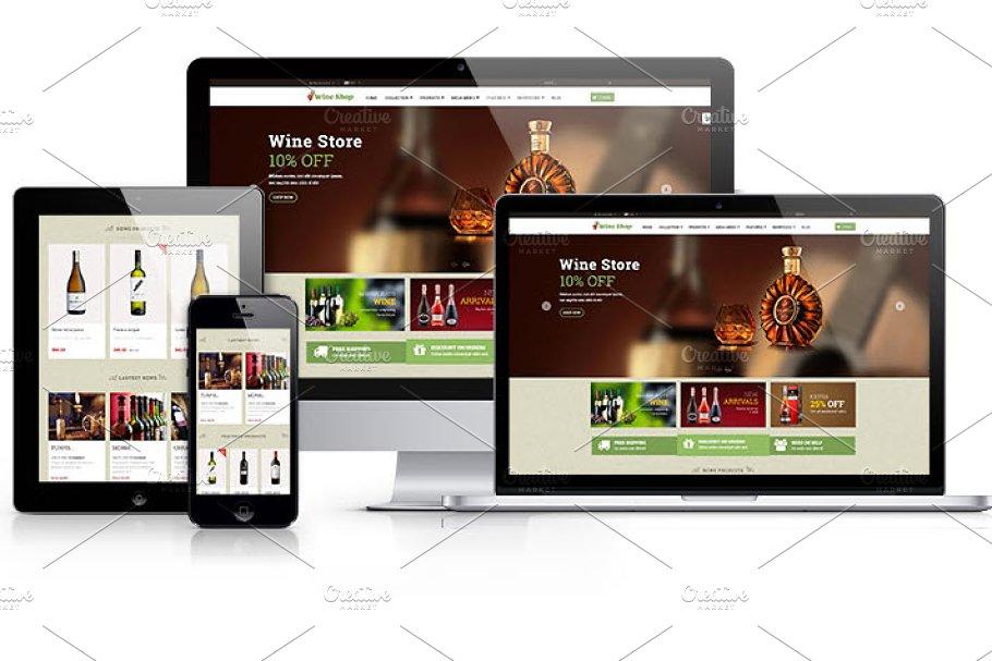 Ap Wine Shopify Themes ~ Website Templates ~ Creative Market