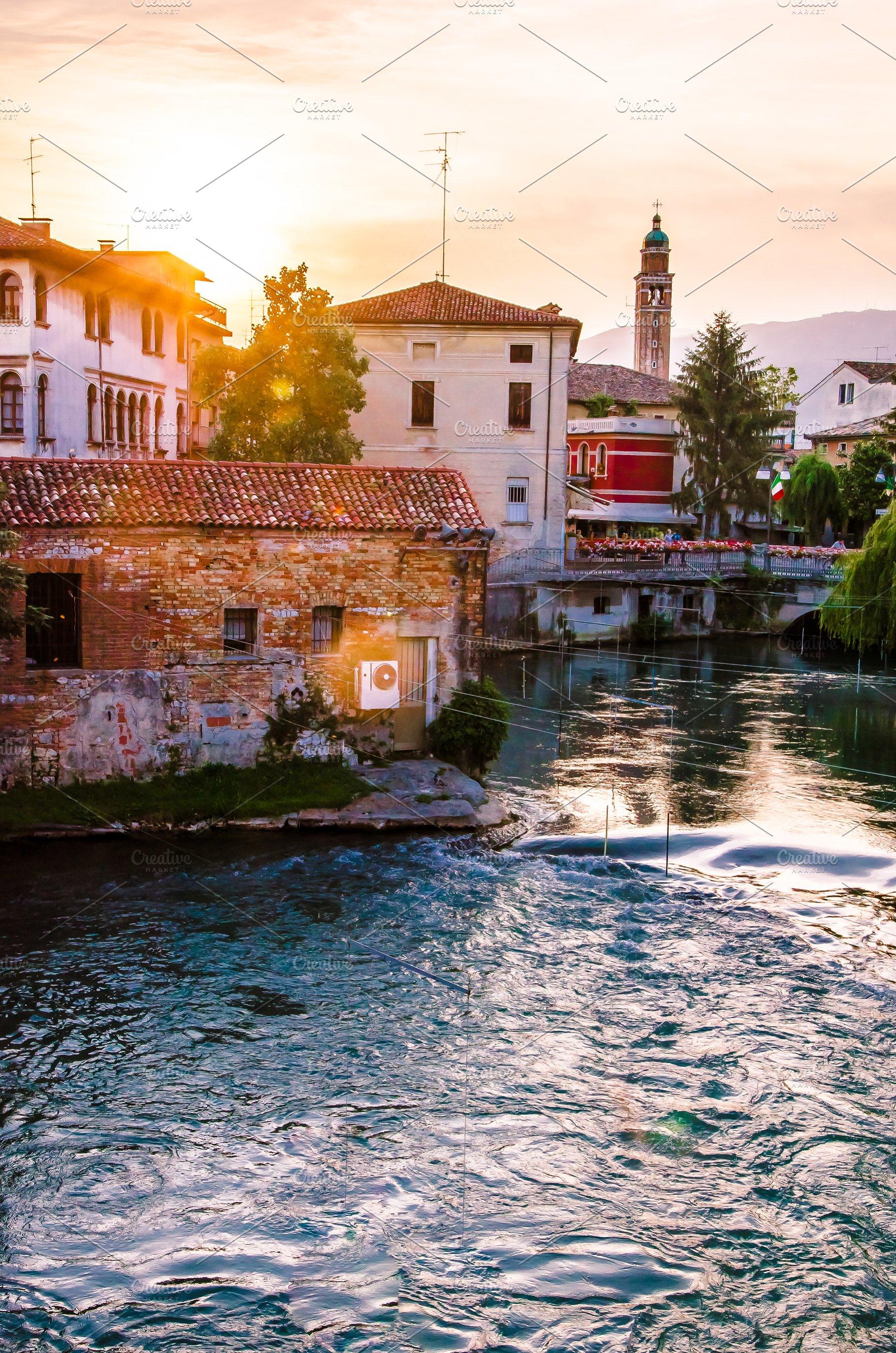 Picturesque Italian Landscape High Quality Architecture Stock