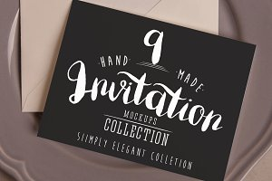 Invitation Mockups: Simply Elegant
