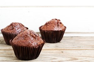 chocolate muffins background