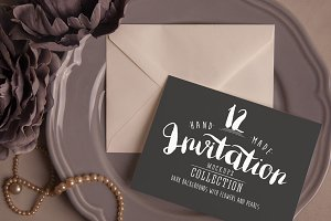 Invitation Mockups: Dark Background