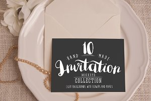 Invitation Mockups: Light Background