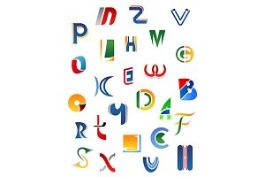 Alphabet letters and icons