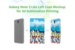 Galaxy Note 3 Lite 3d Case  Mockup