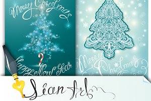 Two winter xmas cards