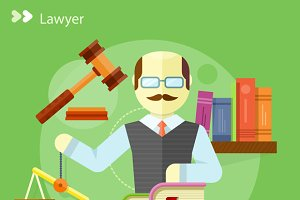Lawyer Icons Concept