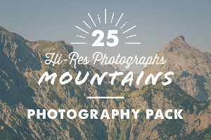 25 x Mountains Photography Pack