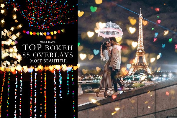 85 Bokeh Overlays