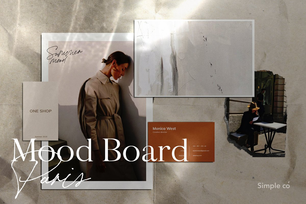 Mood Board Paris / Mockup